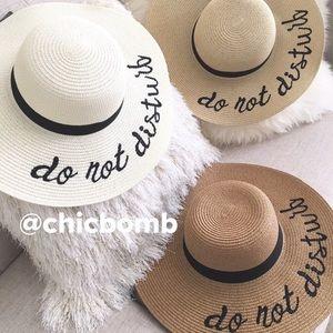 DO NOT DISTURB  wide-brimmed hat